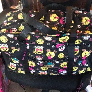 Hersey Johnson Emoji Weekender Overnight Bag